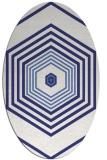rug #1277863 | oval white retro rug