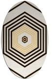 rug #1277867 | oval brown retro rug