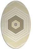 rug #1277887 | oval yellow geometry rug