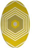 rug #1277891 | oval white retro rug