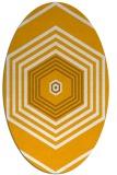 rug #1277919   oval light-orange retro rug