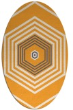 rug #1277927 | oval white geometry rug