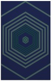 rug #1277971 |  blue-green retro rug