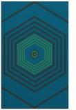 rug #1277995 |  blue-green retro rug