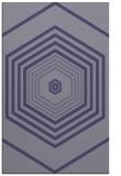 rug #1278019 |  blue-violet retro rug