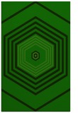 rug #1278139 |  green retro rug
