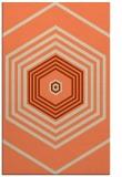rug #1278151 |  orange geometry rug