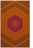 rug #1278215 |  red-orange geometry rug