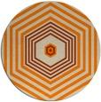 rug #1278299 | round orange retro rug