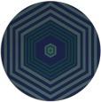 rug #1278339 | round blue retro rug