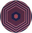 rug #1278391   round blue-violet retro rug