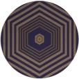 rug #1278403 | round blue-violet retro rug