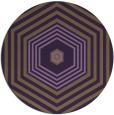rug #1278551 | round mid-brown retro rug