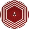 rug #1278567 | round red retro rug