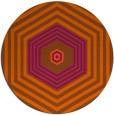 rug #1278583   round red-orange retro rug