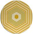 rug #1278619 | round yellow retro rug