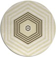 rug #1278623 | round yellow retro rug