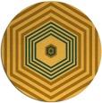 rug #1278631 | round yellow retro rug