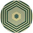 rug #1278635 | round yellow retro rug