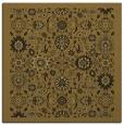 rug #1279055 | square mid-brown damask rug
