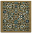 rug #1279063 | square mid-brown borders rug