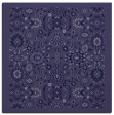 rug #1279119 | square blue-violet damask rug