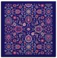rug #1279135 | square blue-violet borders rug