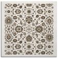 rug #1279199 | square white damask rug