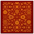 rug #1279247 | square red-orange traditional rug