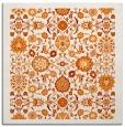 rug #1279251 | square orange damask rug