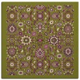 rug #1279283 | square green traditional rug