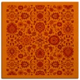 rug #1279299 | square orange damask rug