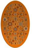 rug #1279403 | oval orange borders rug