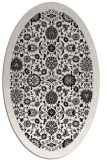 rug #1279407 | oval black traditional rug