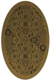 rug #1279423 | oval mid-brown borders rug