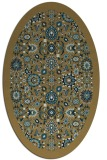 rug #1279431 | oval brown damask rug