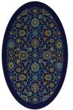 rug #1279435 | oval blue damask rug