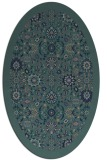 rug #1279443 | oval blue traditional rug