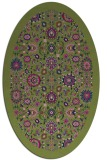 rug #1279447 | oval blue traditional rug