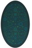 rug #1279467 | oval blue damask rug
