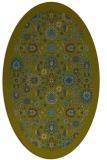 rug #1279479 | oval green traditional rug
