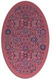 rug #1279495 | oval blue-violet damask rug