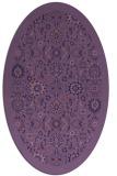 rug #1279499 | oval blue-violet traditional rug
