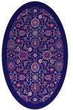 rug #1279503 | oval blue-violet borders rug