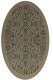 rug #1279515 | oval brown damask rug