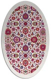 rug #1279519 | oval red traditional rug