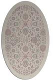 rug #1279527 | oval pink borders rug