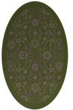 rug #1279543 | oval green traditional rug