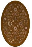 rug #1279555   oval brown damask rug