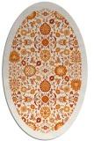 rug #1279619 | oval orange damask rug